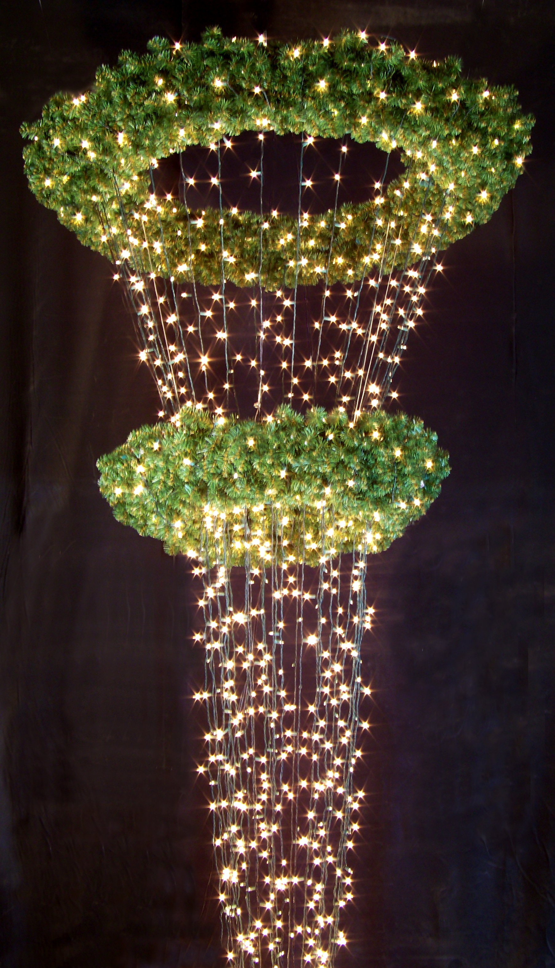 32 poinsettia tree wreath chandelier internally lighted luminaria